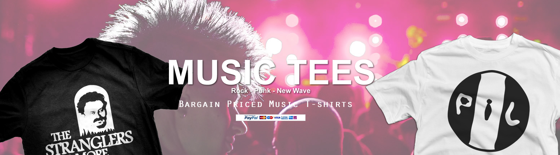 Alternative Music New Wave and Punk T-shirts